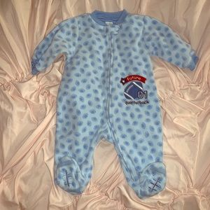 Carter's zip up fleece footie pajama size 6 months